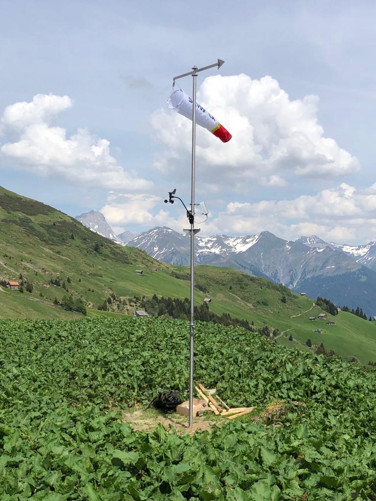 Meteo-Mast mit Startrichtungsanzeige